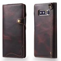 For Funda Samsung Galaxy Note 8 Case Cover Luxury Genuine Leather Silicone Phone Bags Cases For