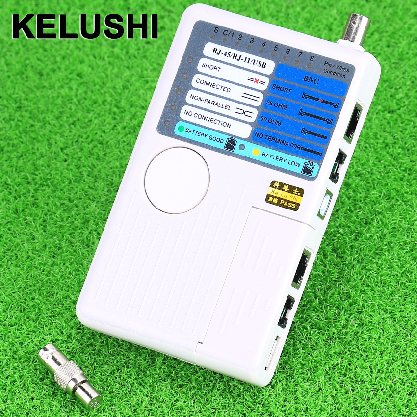 KELUSHI Remote RJ11 RJ45 USB BNC LAN Network Phone Cable Tester Meter 4 In 1 Cable Tester Cable Continuity Testers