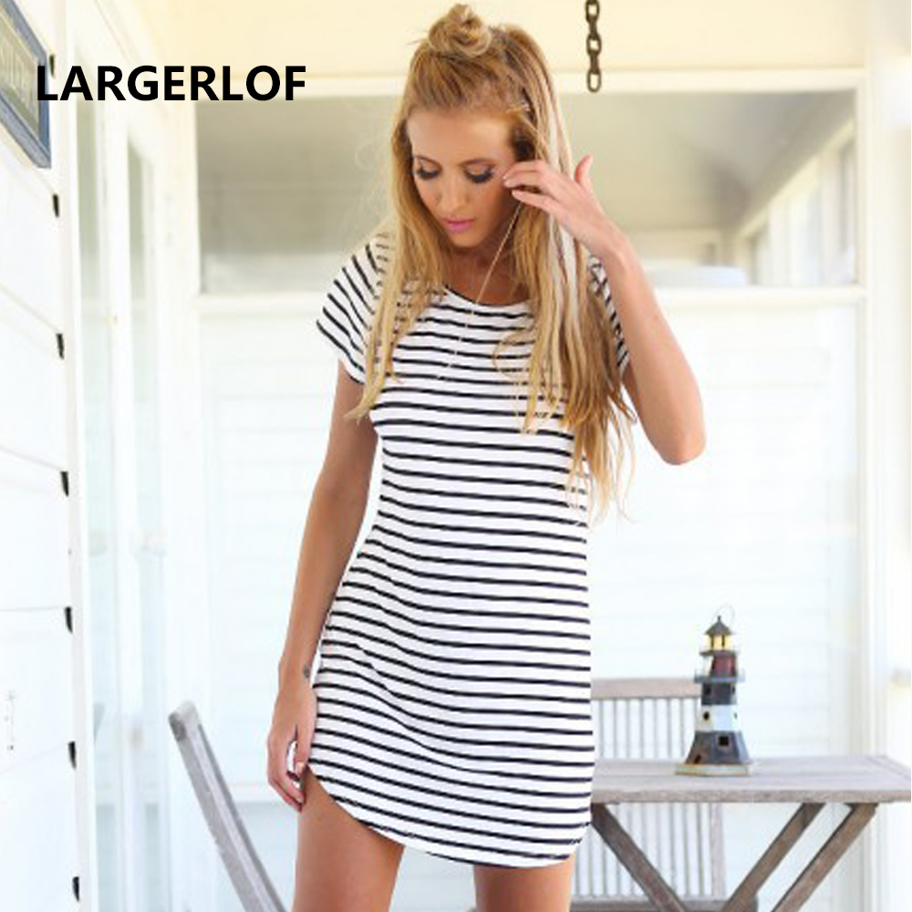 Beach Dress Woman Plus Size Cover Up Bikini Swimwear Cover Up Bathing Suit Beachwear Striped White Shirt Beach BK57137