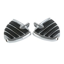 Motorcycle Chrome/Black Motorcycle Wing Foot Pegs Foot Rests For Harley Touring Dyna Male Peg Mount цена