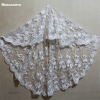 1 Meter Vintage Style wedding Veils Short Lace Edge One Layer Wedding Dresses Veil Lace Bridal Veil