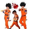 Новый Взрослого/детские Halloween Party Аниме Dragon Ball Z Обезьяна Косплей Костюм мужская/Мальчики Сын гоку Костюм Детская Одежда S-3XL
