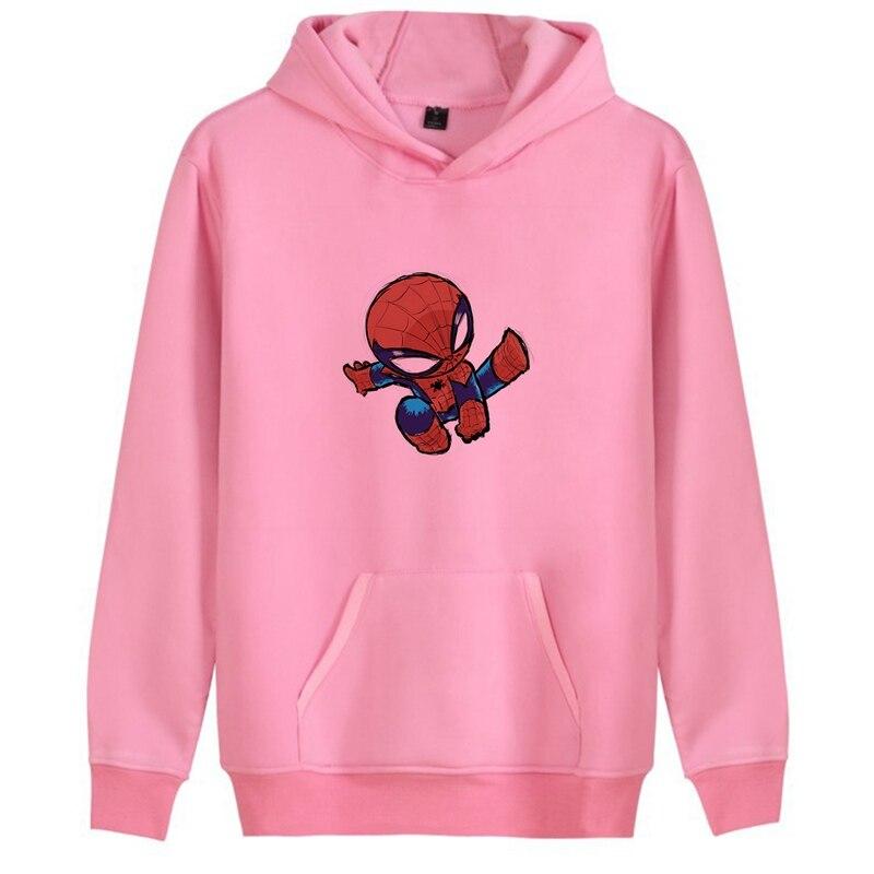Marvel Avengers Illustration Captain Thor Spider Man Trendy College Anime Hoodie Kangaroo Pocket Casual Unisex hoodie A193291 in Hoodies amp Sweatshirts from Men 39 s Clothing