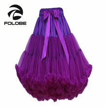 FOLOBE Stock Purple Dancewear Party Prom Tutu Skirts Ball Gown Tulle Skirt Knee Length Skirts Adult tutu Faldas Saias Femininas