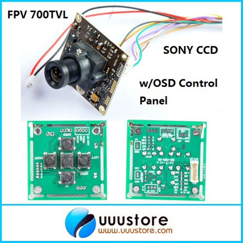 "FPV 700TVL Lines 1/3"" Sony Super HAD II CCD WDR Board Mini RC Camera+OSD  Control Panel+3.6mm lens For RC FPV f450 quadcopter-in Parts & Accessories  from ..."