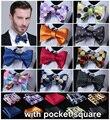 Polka Dot 100% de seda tecido Jacquard Men borboleta auto gravata borboleta gravata borboleta bolso praça lenço Hanky terno Set # B3