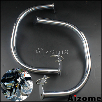 "Chrome Motorcycle 1-1/4"" Engine Guard Highway Crash Bar For Honda VT750DC Spirit 2007-up VT750C2B 2010-up VT750 C4 C5 Shadow"
