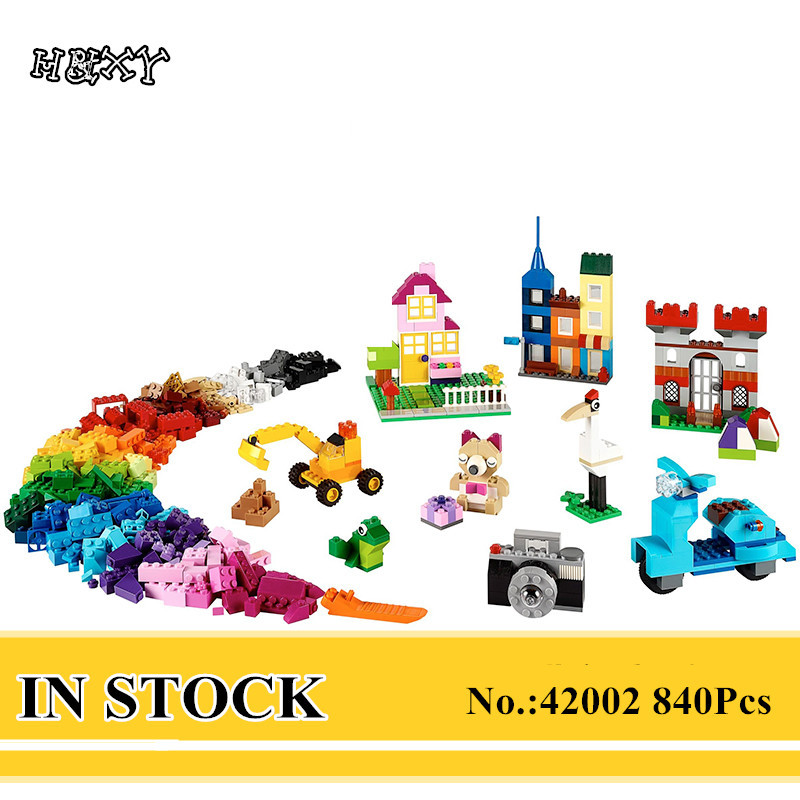 H&HXY 42002 840Pcs Genuine Creative Series The Large Brick Box 10698 Builing Blocks Bricks Children Educational Toys Model Gifts степлер мебельный со скобами sparta 42002