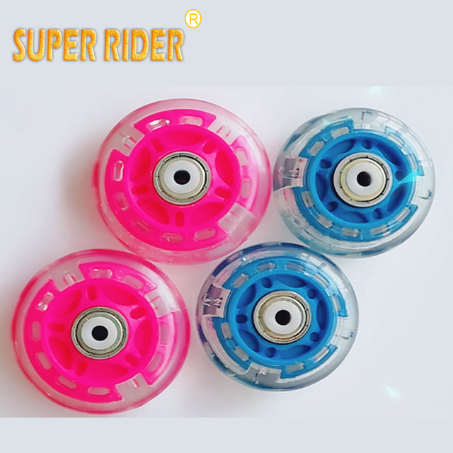 Skating Flash Roller Wheels LED Sliding Skate 64 70mm Inline Flashing Wheel Rollerblade Replacement Durable
