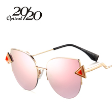 20/20 de Las Mujeres Del Ojo de Gato gafas de Sol de Nueva Marca de Moda de Lujo Gafas de Sol Mujer Gafas Shades Gafas De Sol UV400