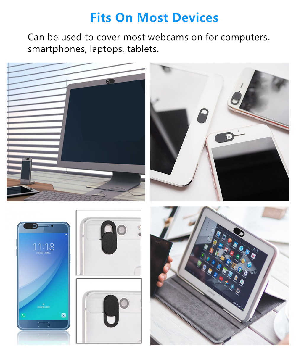 Webcam Cover Ultra Thin Desktop Laptop Camera Cover Slider Plastic All-In-One Privacy Voor Ipad Mac Tablet telefoon