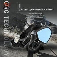 For Honda MSX125 MSX PCX 125 150 CBR 600RR F4 F4i CB600 HORNET CB650F Motorbike Mirrors Cafe Racer Handle Bar End Round Mirror