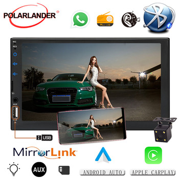 """Car Stereo for Android For CarPlay IOS Blutooth MP5 Player Multimedia 7"""" HD Touch Screen Mirror Link Autoradio RCA Video"""