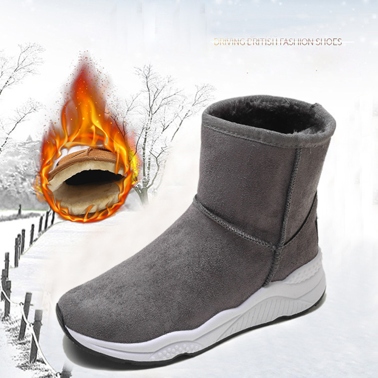 Winter Snow Boots Women Casual Shoes Slip On Warm Plush Women Ankle Boots Flat Heel Sport Ladies Shoes Booties Botas Mujer XZ82 (3)