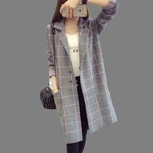 Women Medium long Sweater Coat 2016 Autumn Winter New Female Cardigan Jacket Korean Tide Big yards