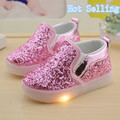 2017 child sport shoes kids light up shoes led sneakers children shoes with light luminous light up shoes for children sparkle k