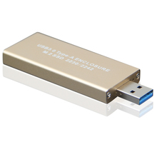 Gold yellow mini M.2 / NGFF to USB3.0 Type-A adapter NGFF SSD to USB3.0 port Type a enclosure card