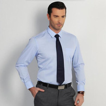 Hot sale of men's formal shirt shirt fashion classic pure color quality simple elegant PROM dress shirt