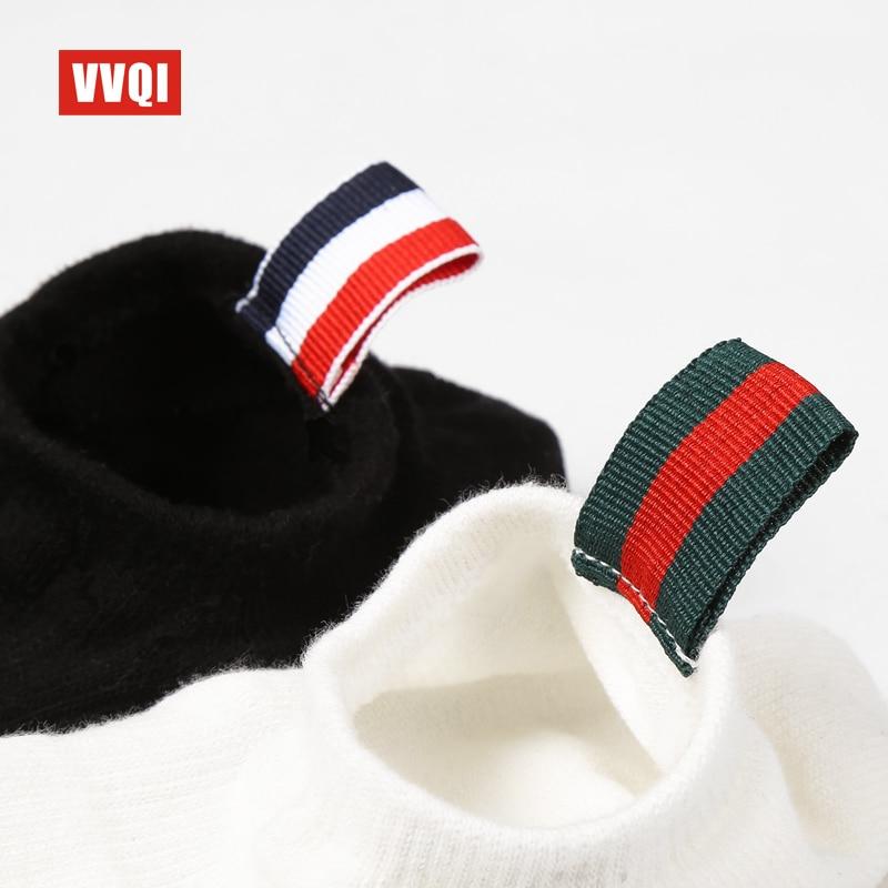 VVQI men socks spring dress street black Harajuku Summer Low boat socks women ankle socks Couple 6 pairs no show socks gift box