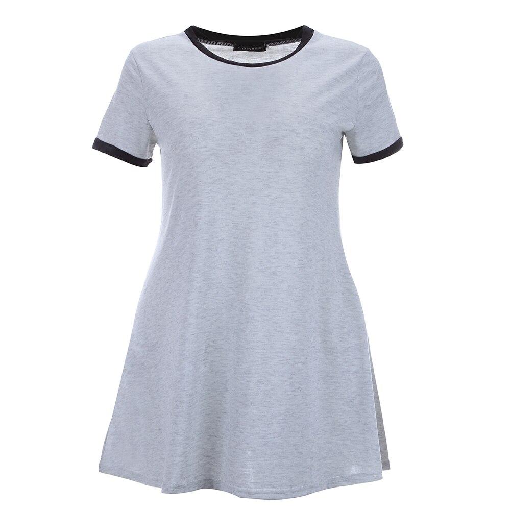 Модные, пикантные линии твердого летнее платье Для женщин Мини Boho вечерние и пляж Для женщин Платья для женщин Vestidos 2018 2 цвета настоящие фото