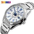 Skmei reloj grande del dial de los hombres populares calendario de pulsera de cuarzo resistente al agua macho moda casual de lujo relogio masculino reloj