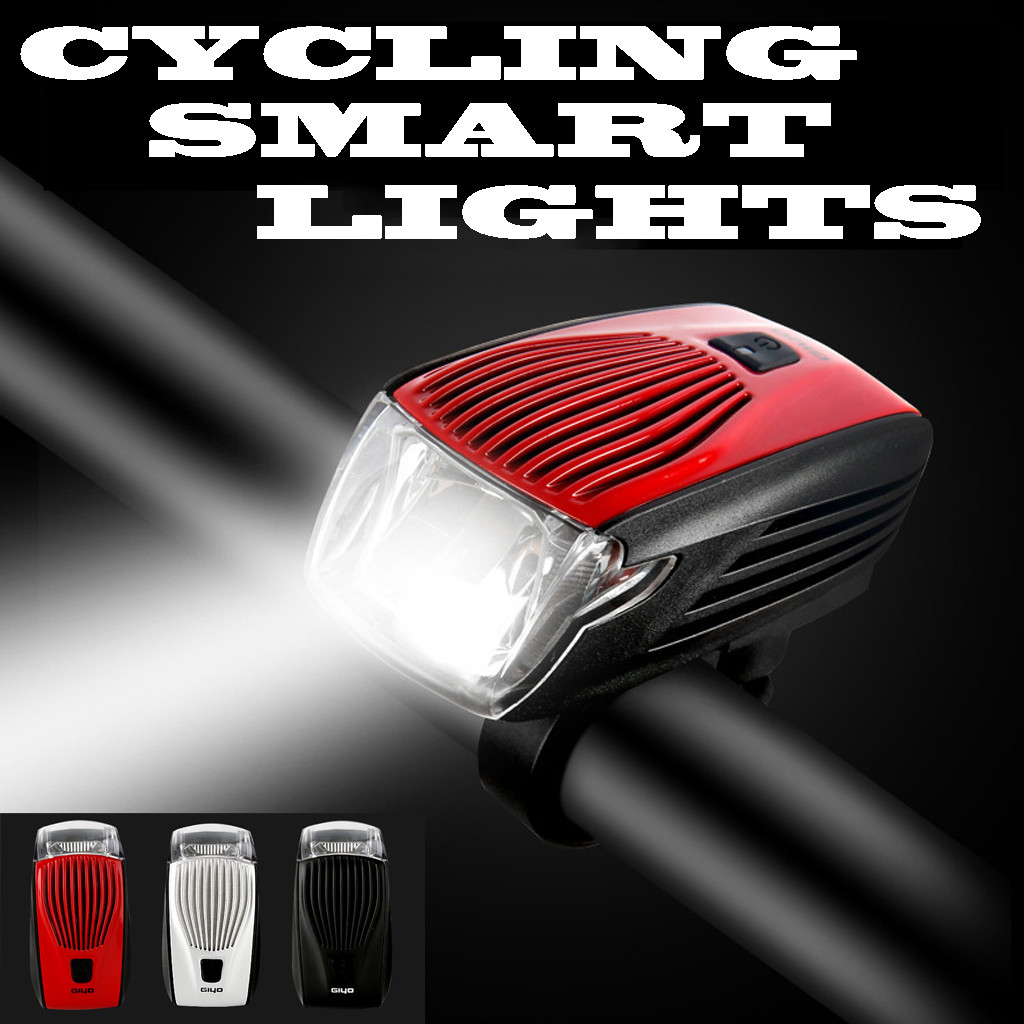 GIYO Bicycle Light Lamp Cycle Bike Smart Led Front Lights Cycling Headlight  Riding Flashlights Accessories R5