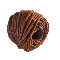 6mm brown cotton nylon rope decorative rope three strands handmade diy hand woven bundled rope retro