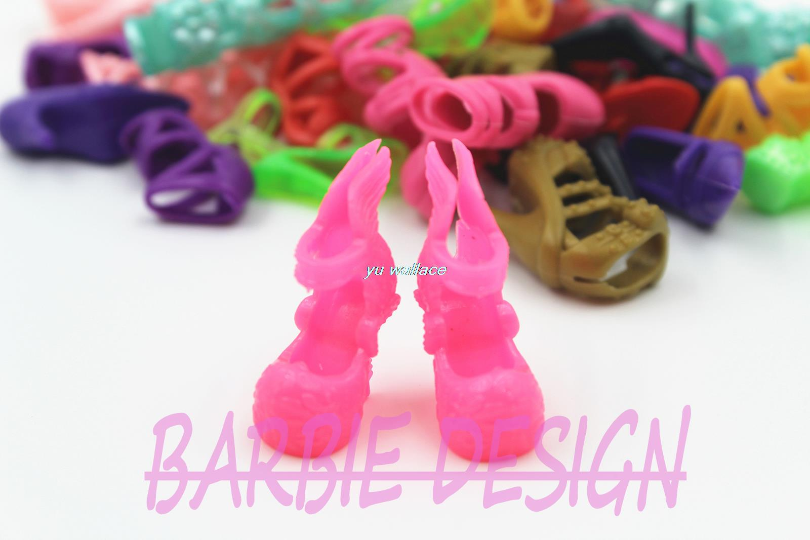 10 Pair Fashion Colorful Doll Accessories Shoes Heels Sandals For Barbie Dolls Best Gift For Girl Baby Toys