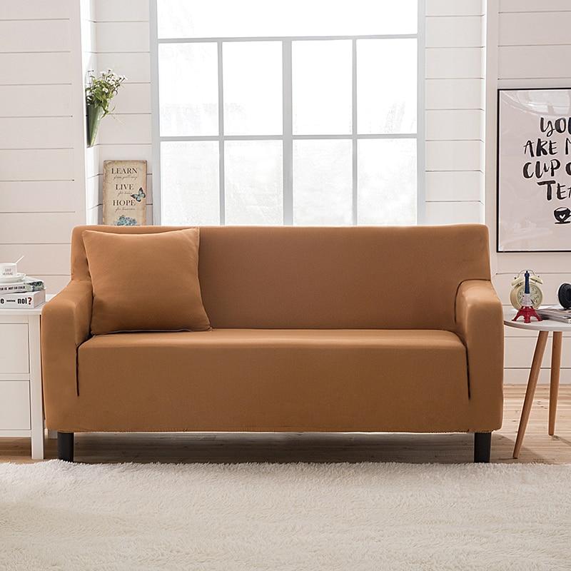 Modern Striped Sofa Slipcovers Knitted Jacquard Corner