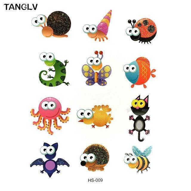 TANGLV Marke kinder tattoo farben alle arten von niedlichen tiere ...