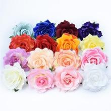 10 см Высокое качество шелковые розы цветок стены Свадебный домашний Декор Рождество diy брошь Свадебные Аксессуары Распродажа искусственные цветы