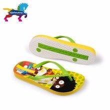 Suojialun dla dzieci klapki japonki Cartoon wzór kolorowe plaży sandały Slip On pantofle