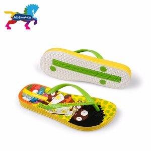 Image 1 - Suojialun dla dzieci klapki japonki Cartoon wzór kolorowe plaży sandały Slip On pantofle