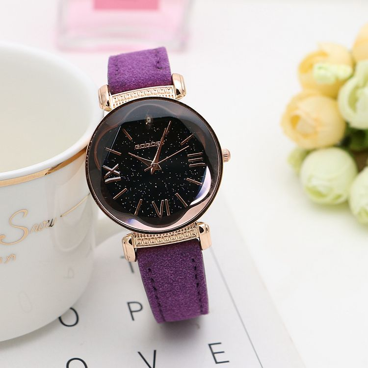 Women Rose Gold Leather Watches  4