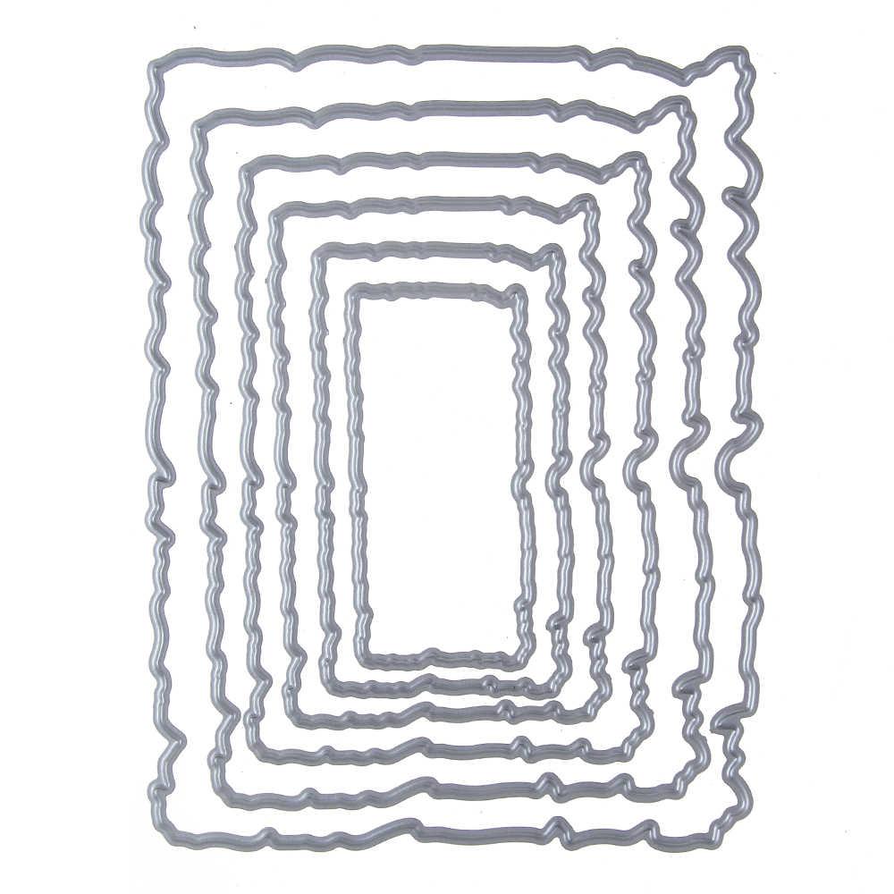 กรอบชุดตัดโลหะตาย Stencil สำหรับ DIY Scrapbooking คาร์บอน Dies ตกแต่งอัลบั้มรูปบัตรศิลปะตัด Dies ตกแต่งแม่แบบ