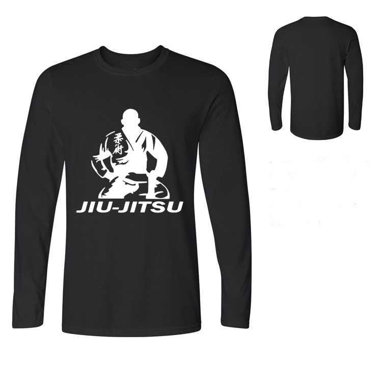 Pria Panjang Gi BJJ Rashguards Jiu-jitsu T-shirt Anak Laki-laki Crossfi Pria MMA Gracie Brazilian Jiu Jitsu T Shirt kompresi Kemeja
