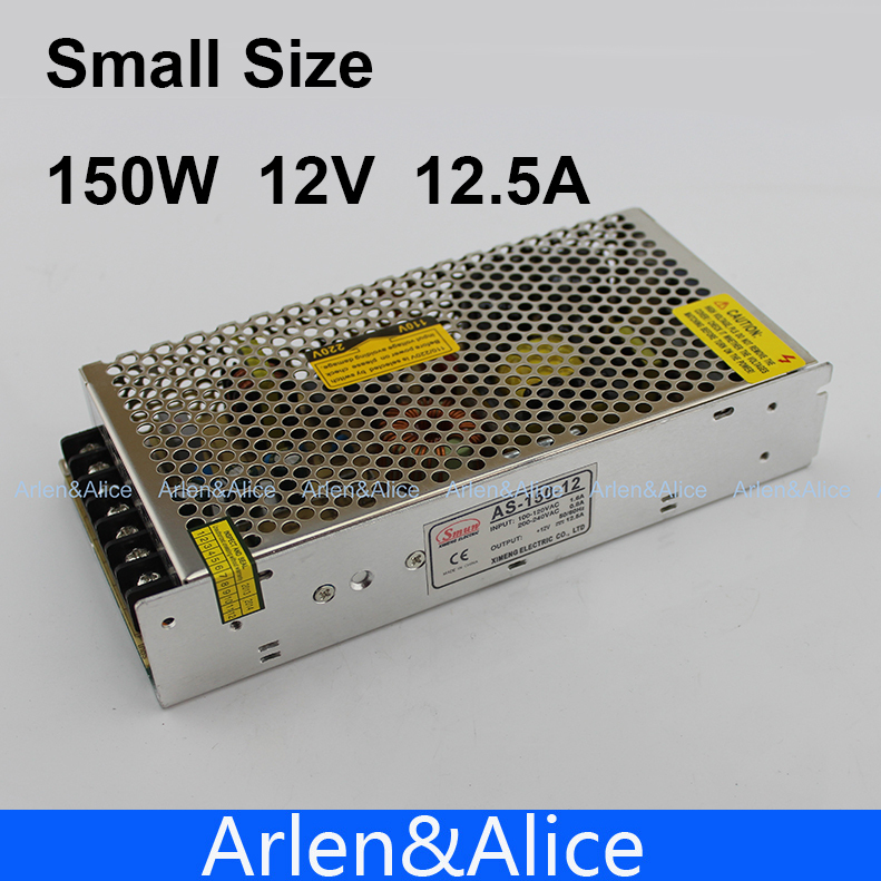150W 12V 12.5A Small Volume Single Output Switching power supply for LED Strip light AC to DC