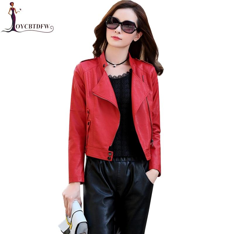 Women Motorcycle Jacket 2018 Spring New PU   Leather   Coats Women Elegant Slim Locomotive Outerwear Lady Autumn Fashion Jacket X231