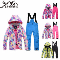 SJ Maurie Children's Ski Suit Winter Children Windproof Waterproof Super Warm Colorful Girls Boys Snow Ski Jacket And Pants