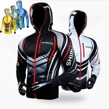 Мужская одежда для рыбалки Shimano с длинным рукавом, дышащие рубашки для рыбалки с защитой от УФ-лучей, одежда для рыбалки, велосипедные походные куртки