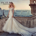 Vestidos De Noiva Hot Sale Real 2017 Dramatic Hand Made Customized High-quality Wedding Dresses Long Layers Train Dress Gowns