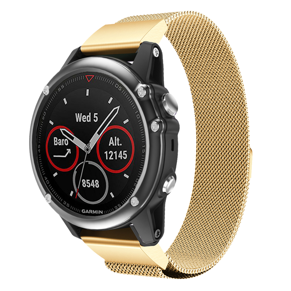 Milanese Loop band For Garmin Fenix 3 Fenix3 HR Fenix 5X PLUS strap Quick Install Easy Fit wristband smart watch bracelet band in Watchbands from Watches