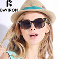 BAVIRON New Designer Women Glasses Grouper Frame HD Polarized Sunglasses Feminino Mirror Sunglasses UV400 Free Box Oculos 8520