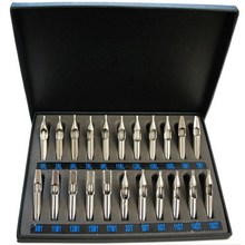 Best 22pcs Sizes Tattoo Tips 304 Stainless Steel Tattoo Nozzle Tips For Needles Set Kit