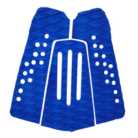 High Quality 3 Pieces Set Blue EVA Tail Pads Surfboard Deck Grips Traction Surfing Mat Boayboard