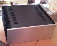 DIY большой класс алюминиевый Шасси корпуса усилителя с радиатором 430*200*413 мм