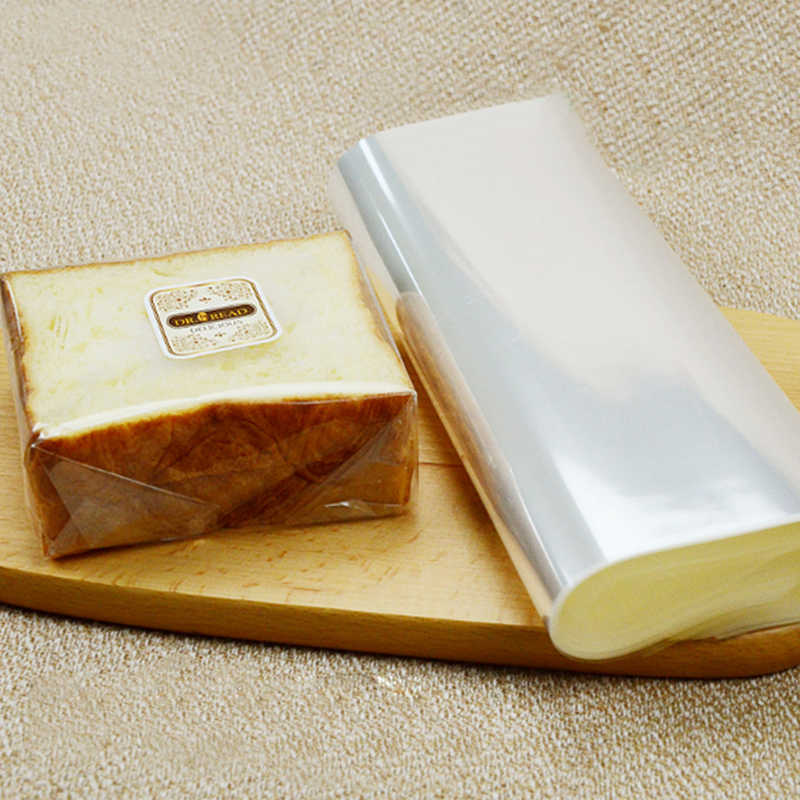 Food Grade Opp Packing Sheet Sandwich Cake Bread Wrapper Transparent Food Cellophane Baking Tools Take-out Food Wrapping Paper