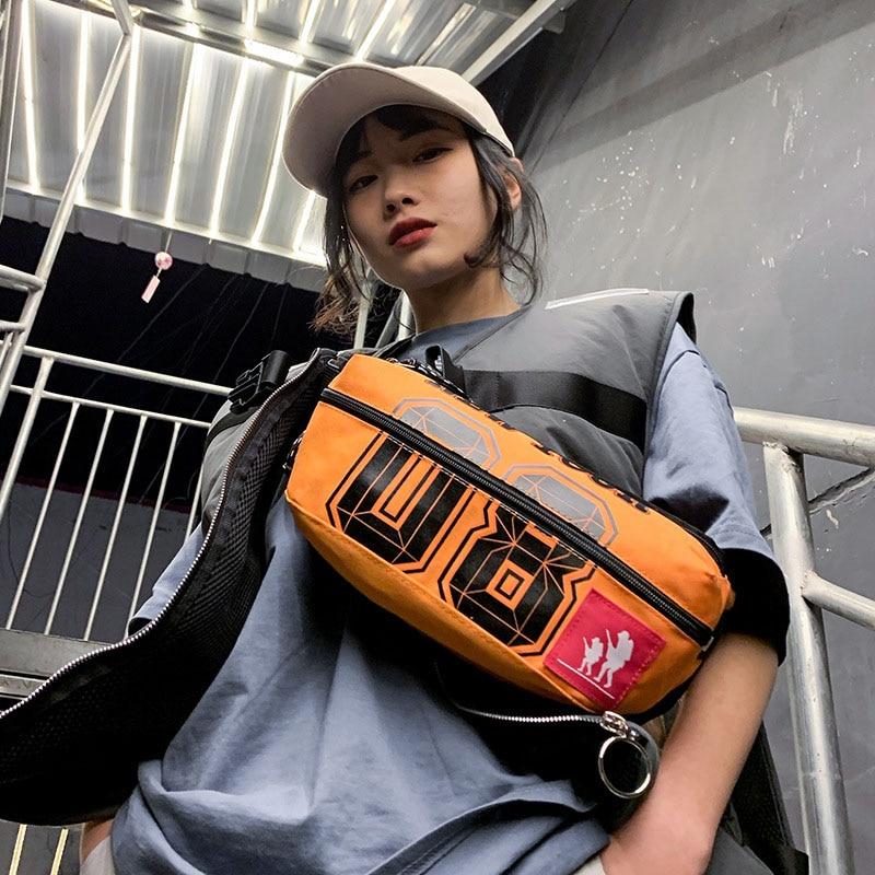 Unisex Fanny Pack Trend Bag For The Belt Large Capacity Waist Bags Banana Packs Canvas Chest Bag Letter Pattern Crossbody Pack