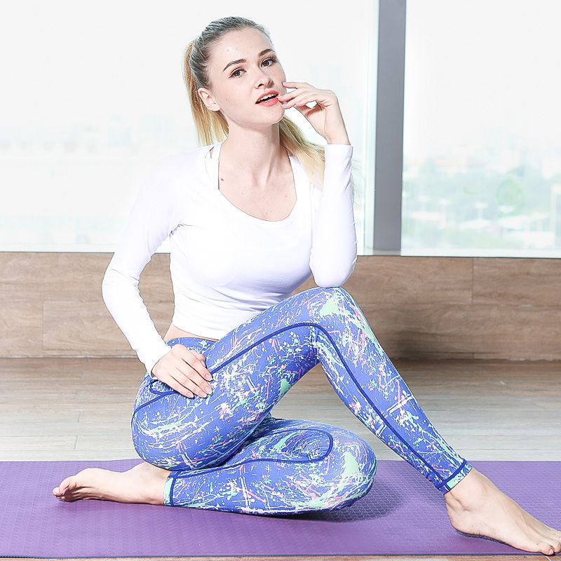 Penguin Store Yoga Pants Sports Women fitness clothing Sport Trousers Running Tights Leggings Fitness Tights Colorful Butterflies Free ship