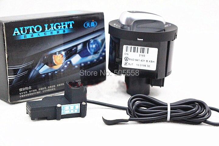 ФОТО VW Car Styling Auto Headlight Sensor And Switch For Volkswagen  SKODA SUPERD